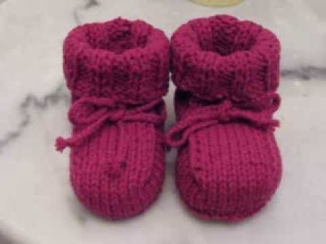 Easy Baby Booties Knitting Youtube Tejido De Agujas Pinterest