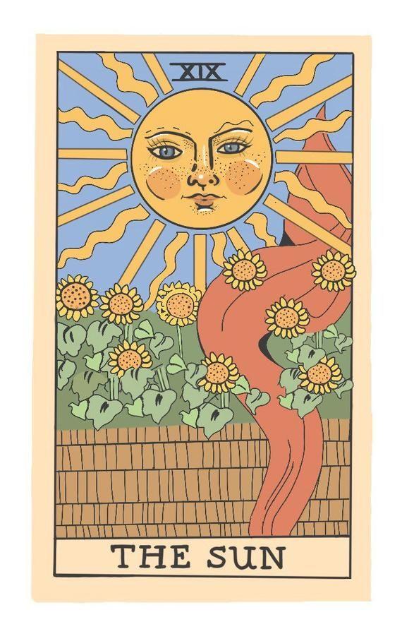 Sun Tarot Card Sticker
