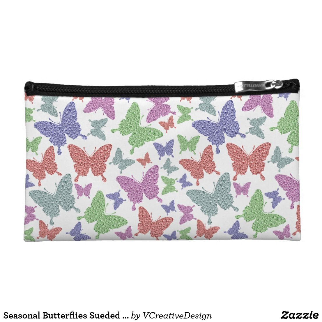 Seasonal Butterflies Sueded Accessory Bag Butterfly bags