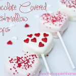 Chocolate covered heart marshmallow pops