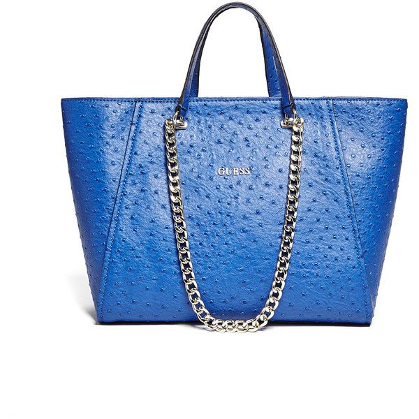 Guess Blue Nikki Chain Tote