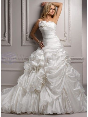 Vicenza Organza Strapless Neckline Ball Gown Wedding Dress