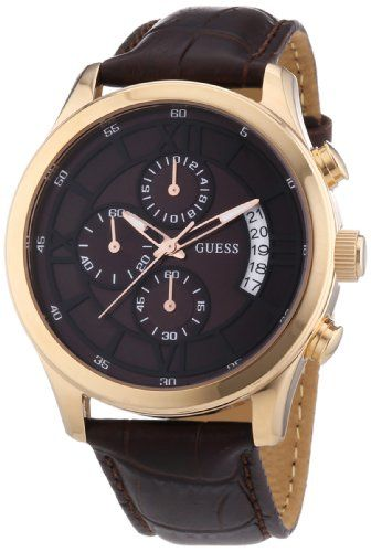 Guess – W14052G2 – Montre homme – Quartz Chronographe – Cadran Marron – Bracelet Marron | Your #1 Source for Watches and Accessories