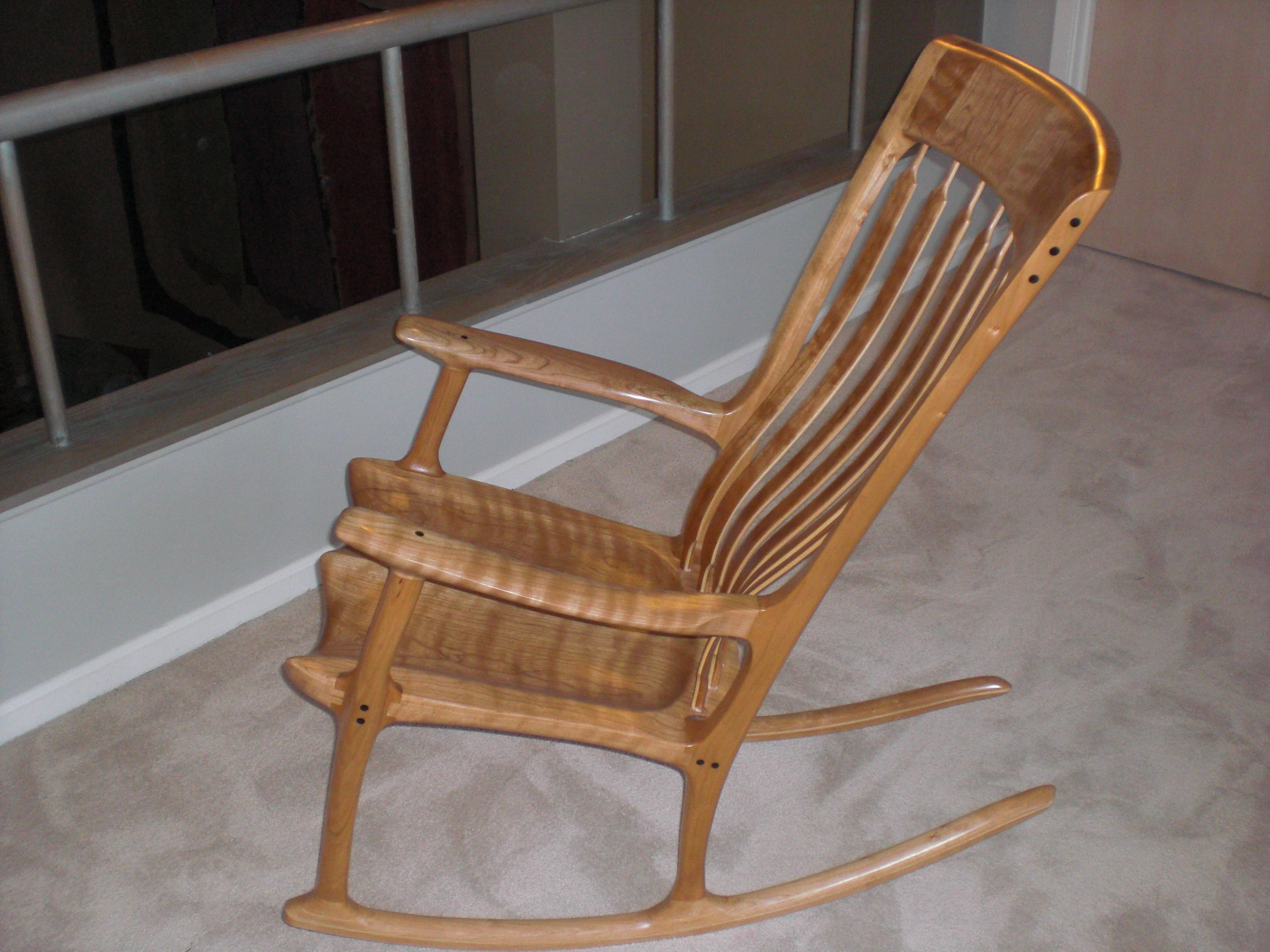 Sam Maloof Rocking Chair Plans Hal Taylor Herman Miller Aeron Seattle And Inspired Shown Made In Cherry With Curly Ash Ebony Accents