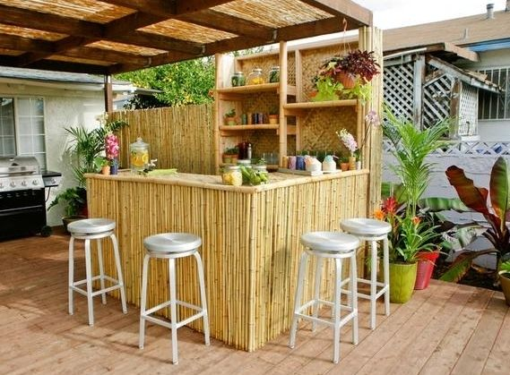 garten bar selber bauen diy garten bar und bambus. Black Bedroom Furniture Sets. Home Design Ideas