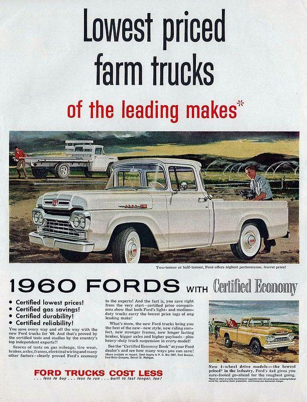 1960 ford pickups advertisement ford motor pickup trucks, old Ford Truck Trailer Lights