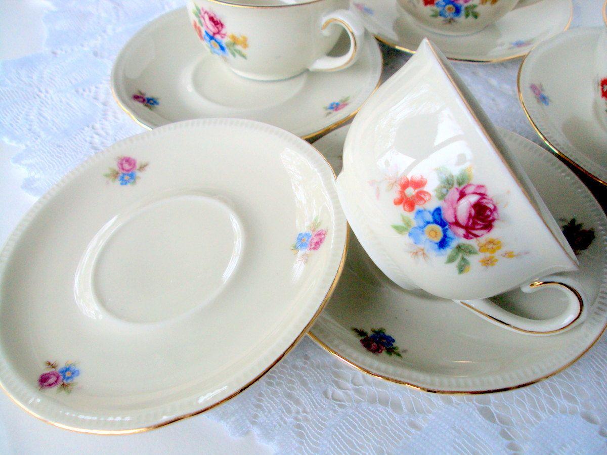 Elegant Vintage Winterling,Triptiser Porzellanfabrik,Thuringia,Bavaria Germany,US  Zone,Porcelain Demitasse Cup And Saucers,Dining Serving,Tea/Coffee