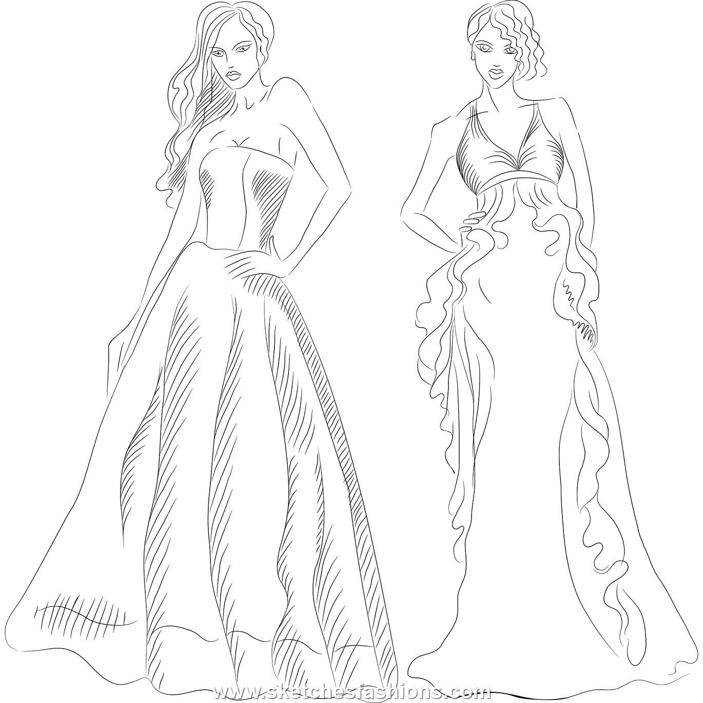 Coloring Pages Of Fashion Clothes