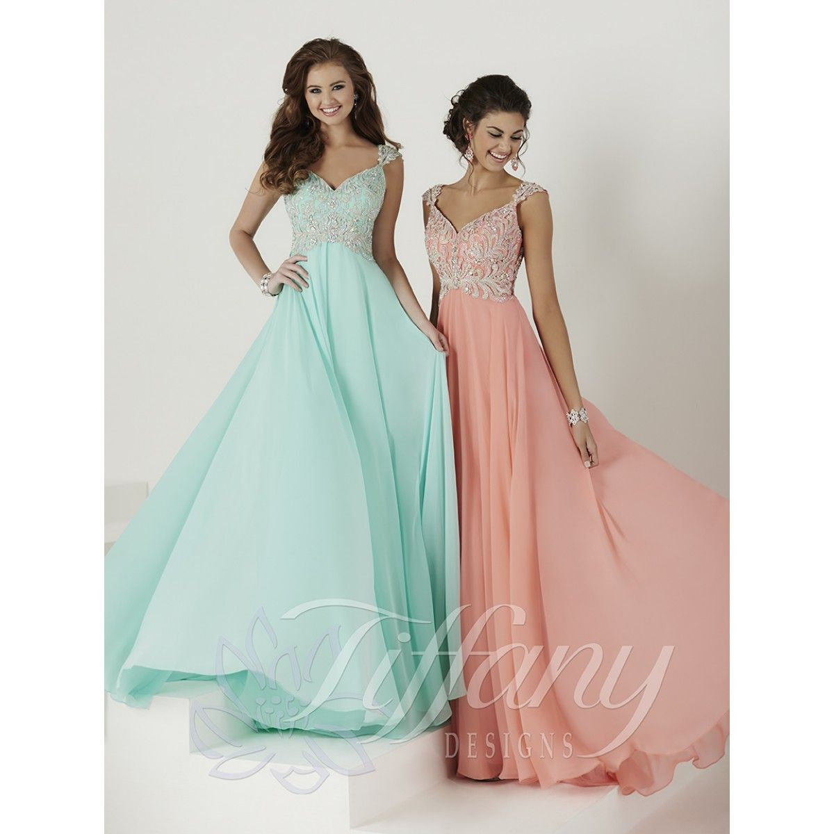 Tiffany Designs 16136 beautiful embroidered bodice prom or ...