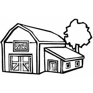 free printable farm coloring pages - Free Printable Barn Coloring Pages