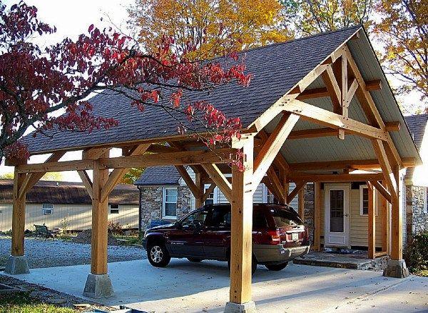 Wiring A Timber Frame Pavilion Carport Designs Timber Frame