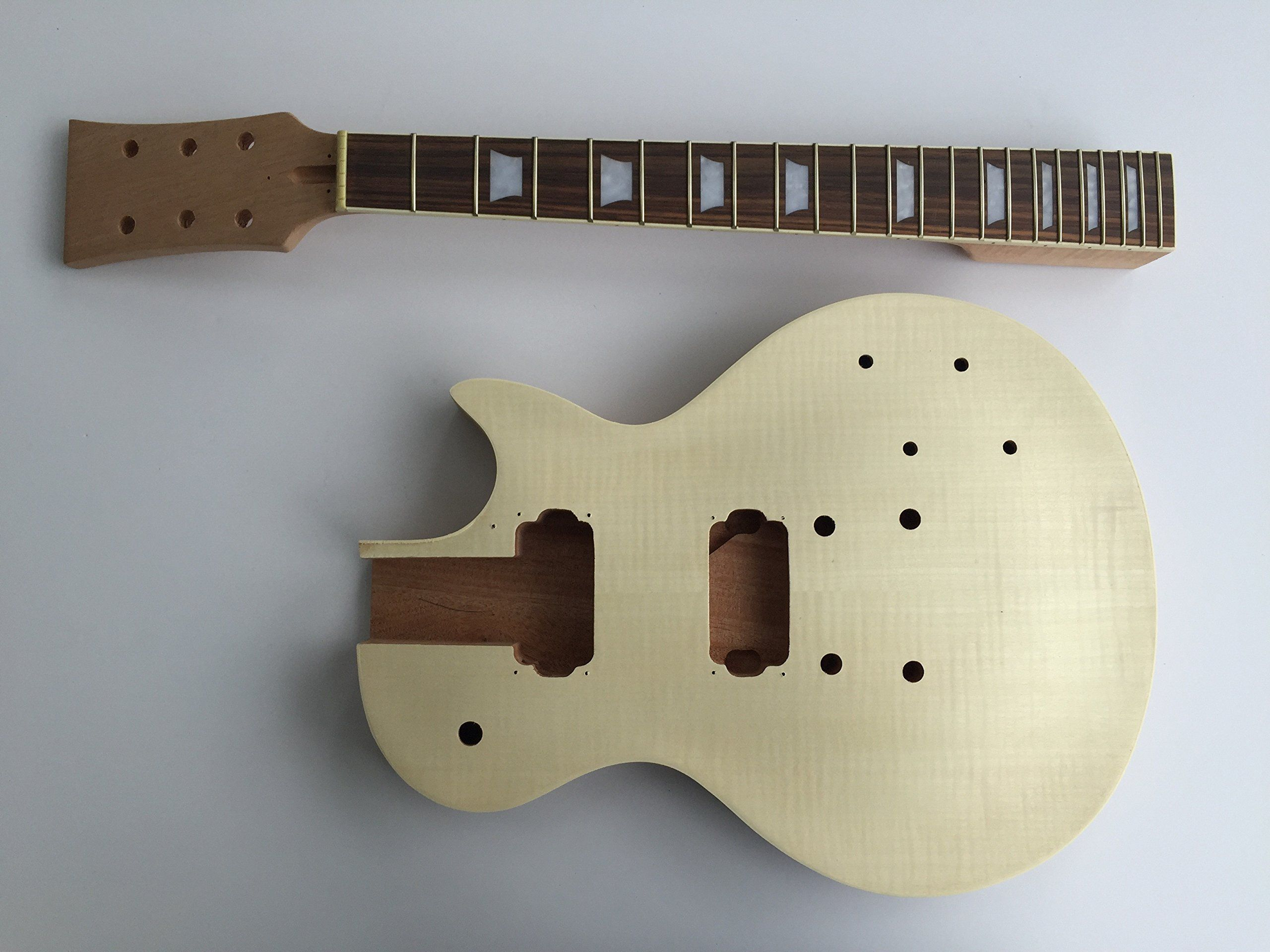 Diy electric guitar kit lp mahogany style build your own