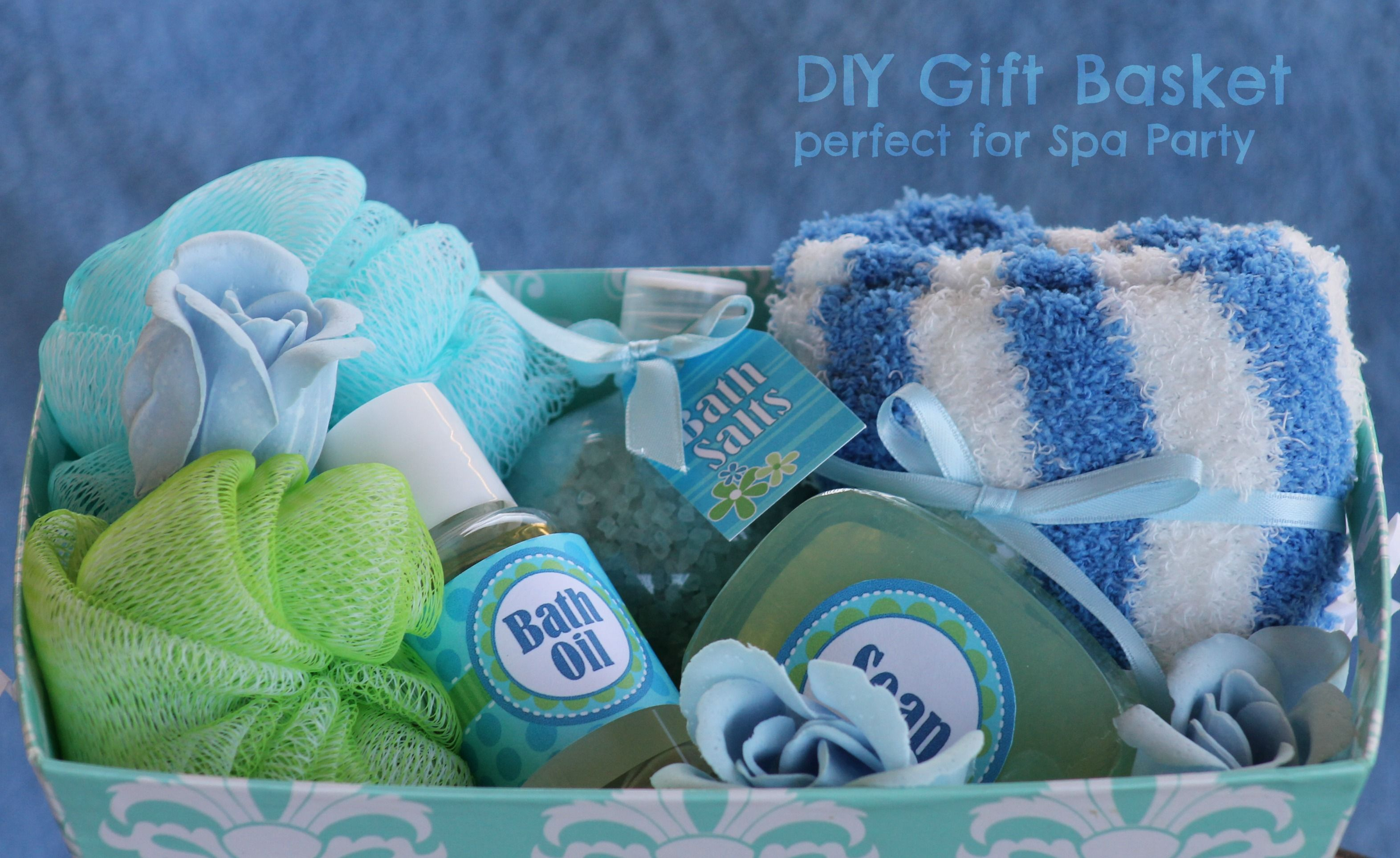Christmas Party Raffle Ideas Part - 25: Christmas Party Raffle Ideas | Spa Themed Gift Baskets - Growing Up  Bilingual