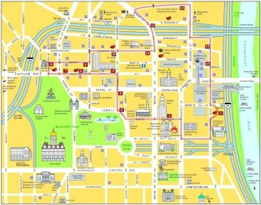 Map of Downtown Hartford, CT | Downtown Hartford | Pinterest | Map