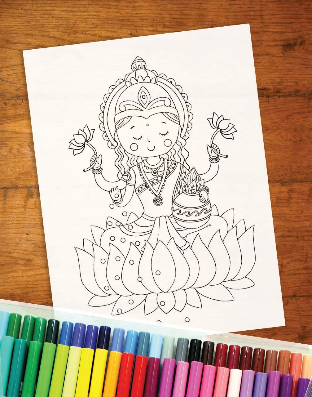indian diwali coloring pages - photo#23