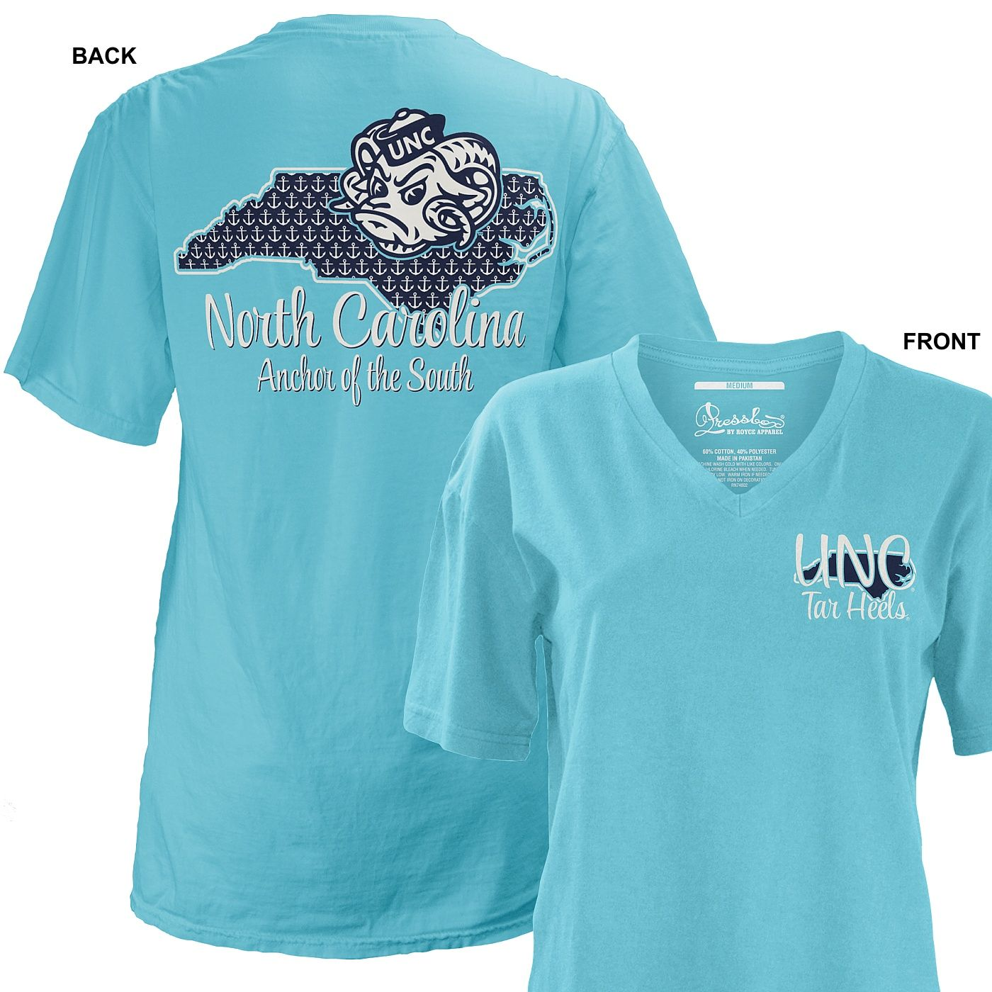 112ccd8f7ee State Anchor V-neck T - GAA members save 10% at Johnny T-shirt. #UNCGAA  alumni.unc.edu