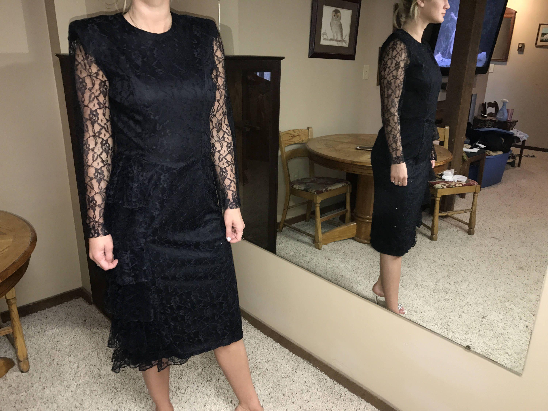 Black Lace Dress Formal Vintage Fashion Black Tie Affair Etsy Lace Dress Vintage Black Lace Dress Vintage Fashion [ 2250 x 3000 Pixel ]