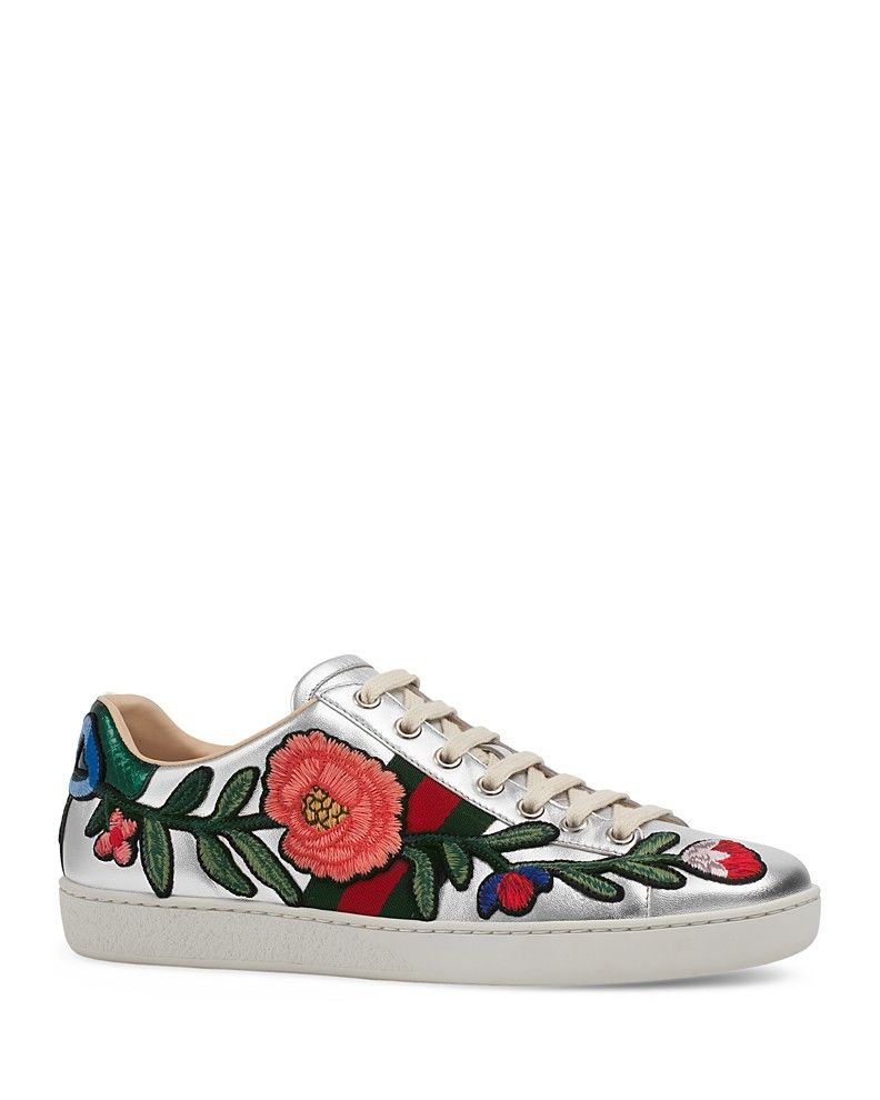 Sneakers, Lace tops, Floral sneakers