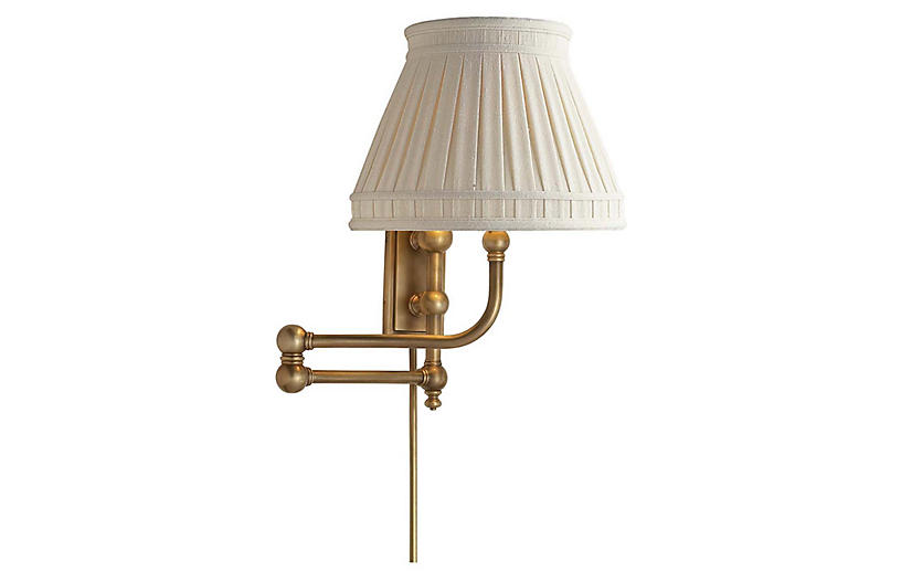 Pimlico Swing Arm Sconce Burnished Brass Visual Comfort In