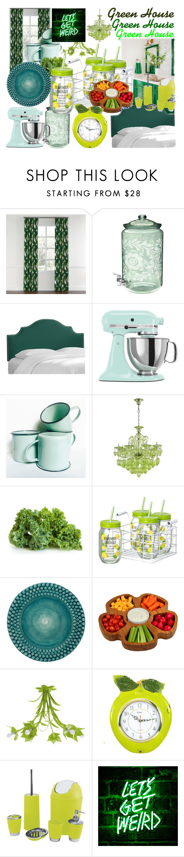 """""""Green House"""" by taradactyl22 on Polyvore featuring interior, interiors, interior design, home, home decor, interior decorating, Thos. Baker, KitchenAid, Mateus and Picnic at Ascot"""