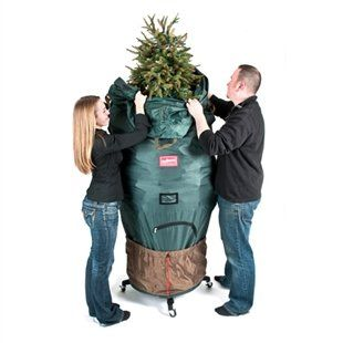 Treekeeper Pro Upright Tree Storage Bag With Stand Fits 7 5 To 9 Foot Trees Five Dollar M Tree Storage Bag Christmas Tree Storage Christmas Tree Storage Bag