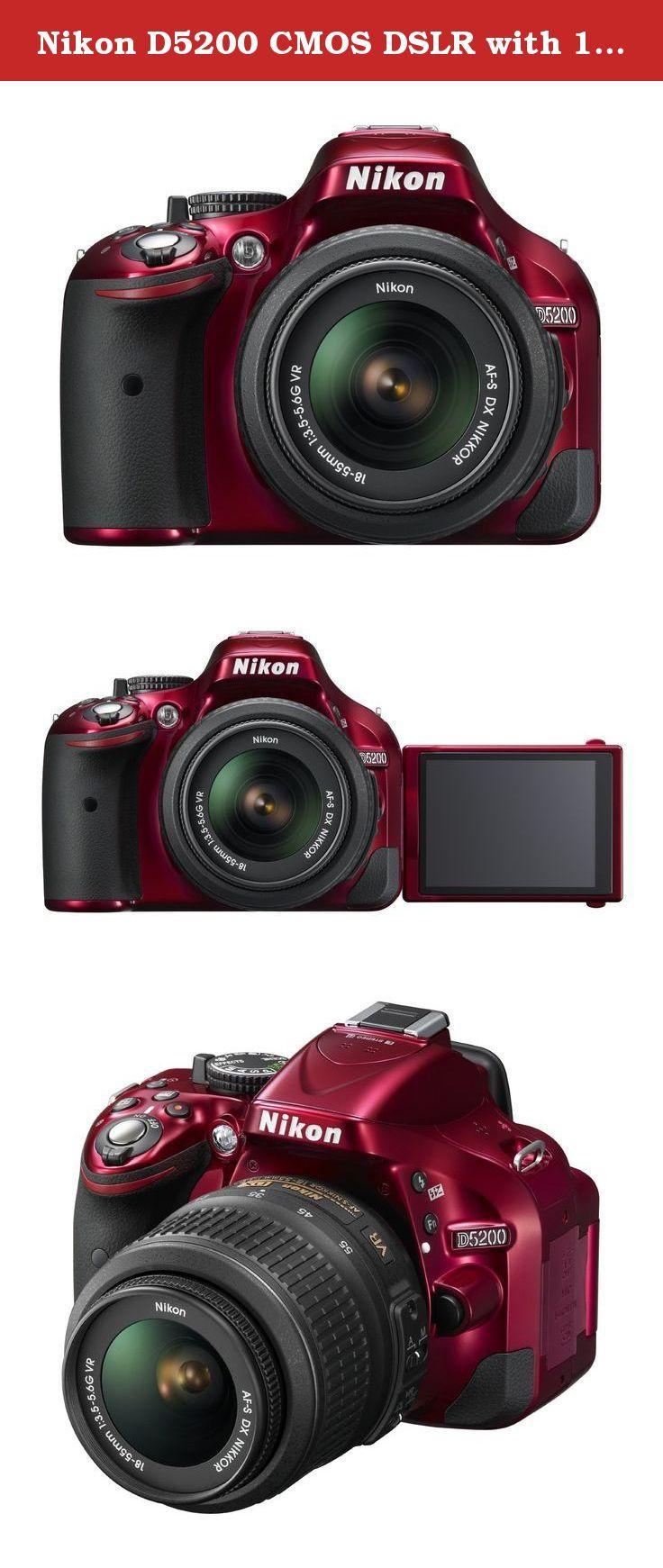 Nikon D5200 Cmos Dslr With 18 55mm F 3 5 5 6 Af S Nikkor Zoom Lens Red Discontinued By Manufacturer Nikon D5200 24 1 Megap Digital Camera Camera Zoom Lens