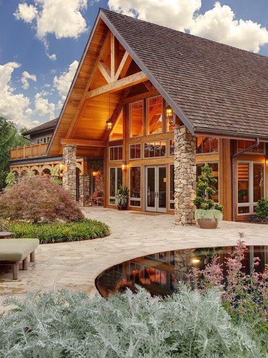 Fachadas de casas Rusticas - II techos madera Pinterest