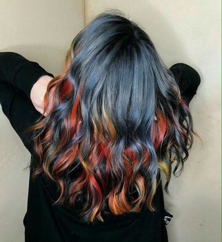 Underside Coloring With Images Rainbow Hair Color Hair Styles