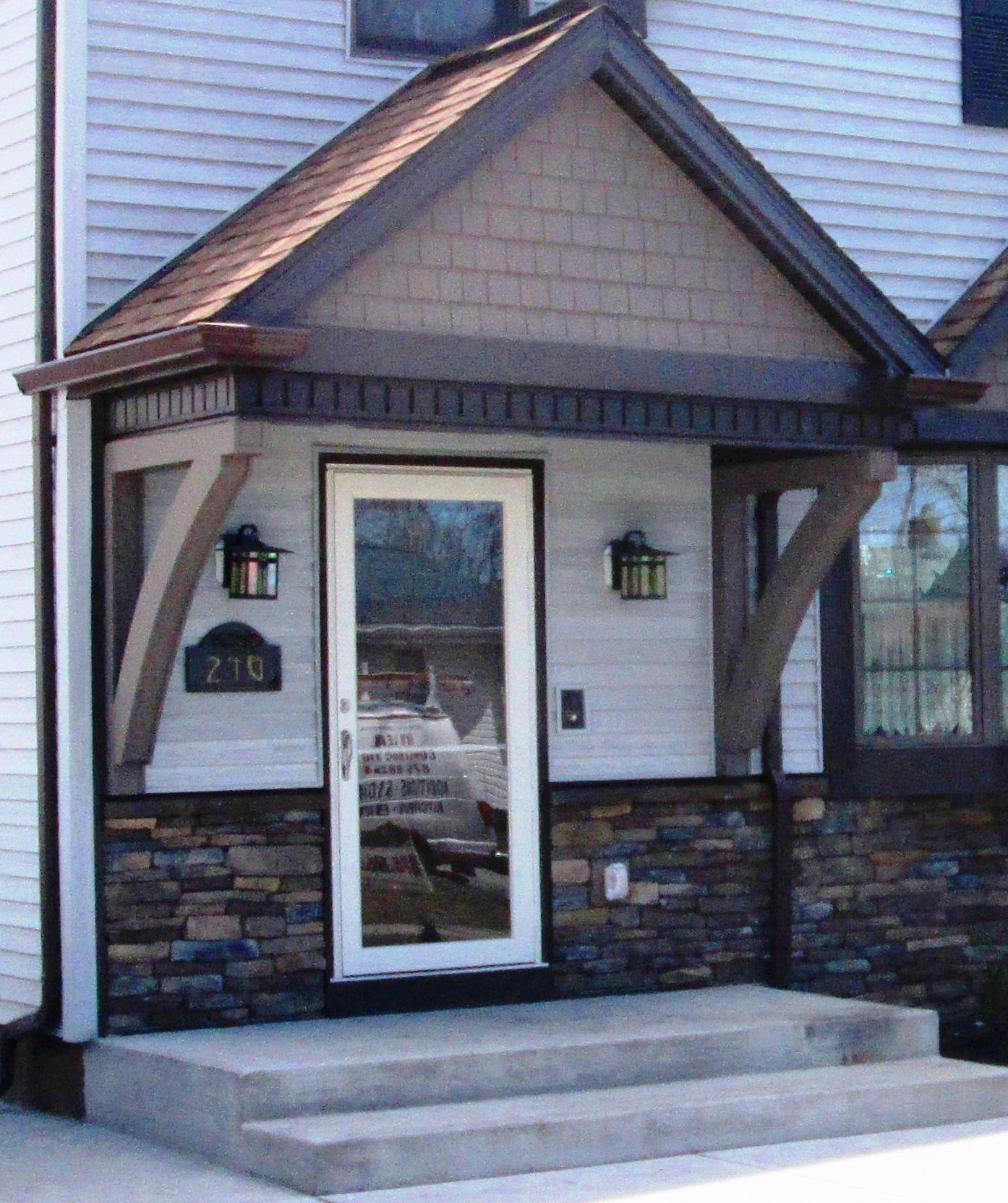 Cute Front Awning Installing Exterior Door Exterior Doors Door Installation