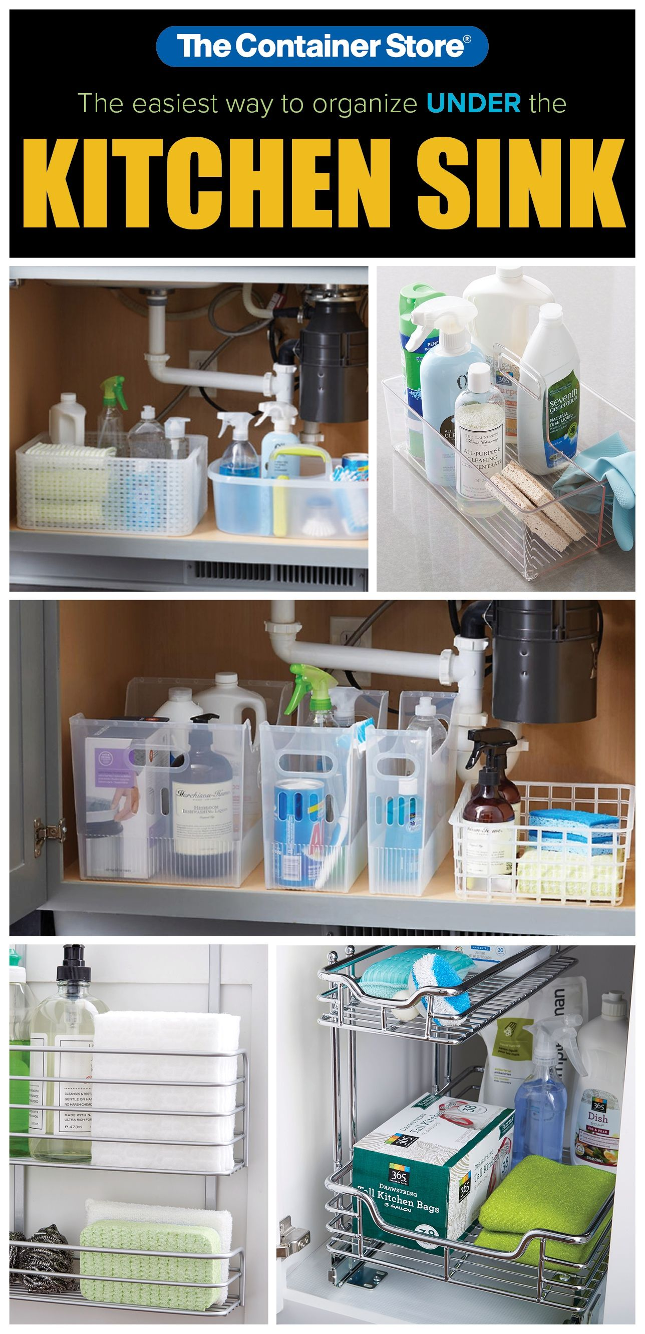 Take the guess work out of organizing the cabinet under your kitchen