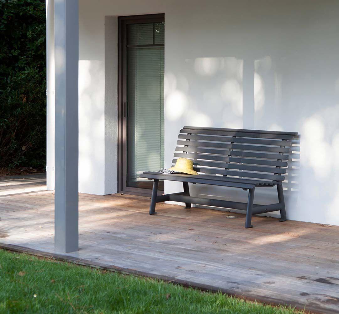 Banc de jardin en aluminium Square   Banc de jardin, Bancs et Chaise ...