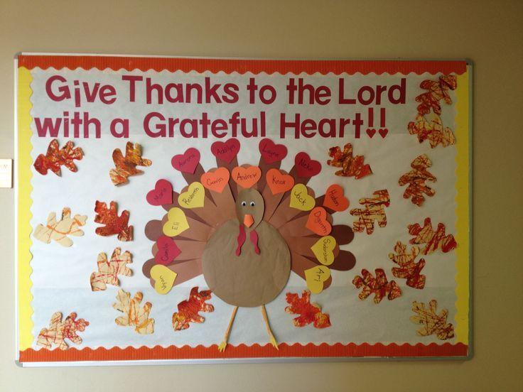 incredible Thanksgiving Church Bulletin Board Ideas Part - 3: thanksgiving bulletin board ideas | November Bulletin Board Idea