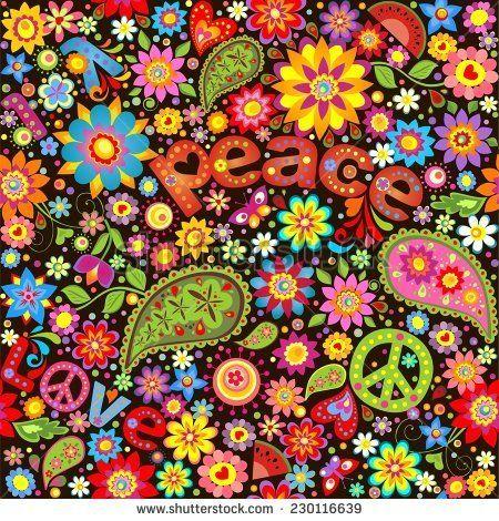 Free 70s Vector Pattern Free Vector Download 19 377 Free Vector Hippie Art Art Hippie