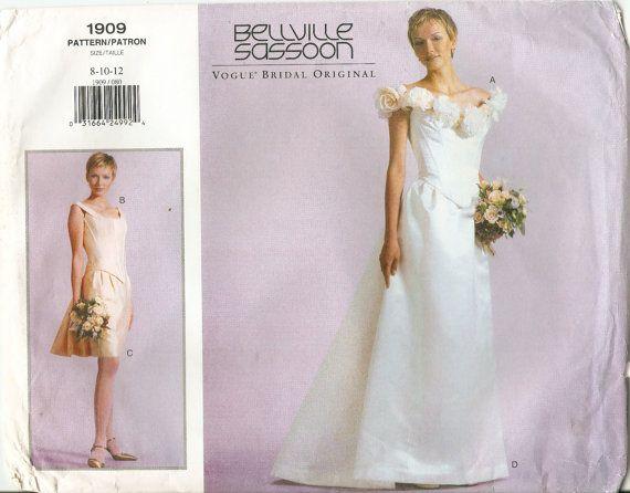 Vogue 1909 Designer Bellville Bridal Gown Sewing by DejaVuPatterns ...