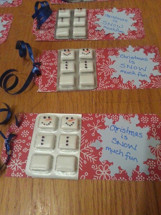 Snowman Gum Favour Diy Christmas Gifts Homemade Christmas Gifts Kids Christmas