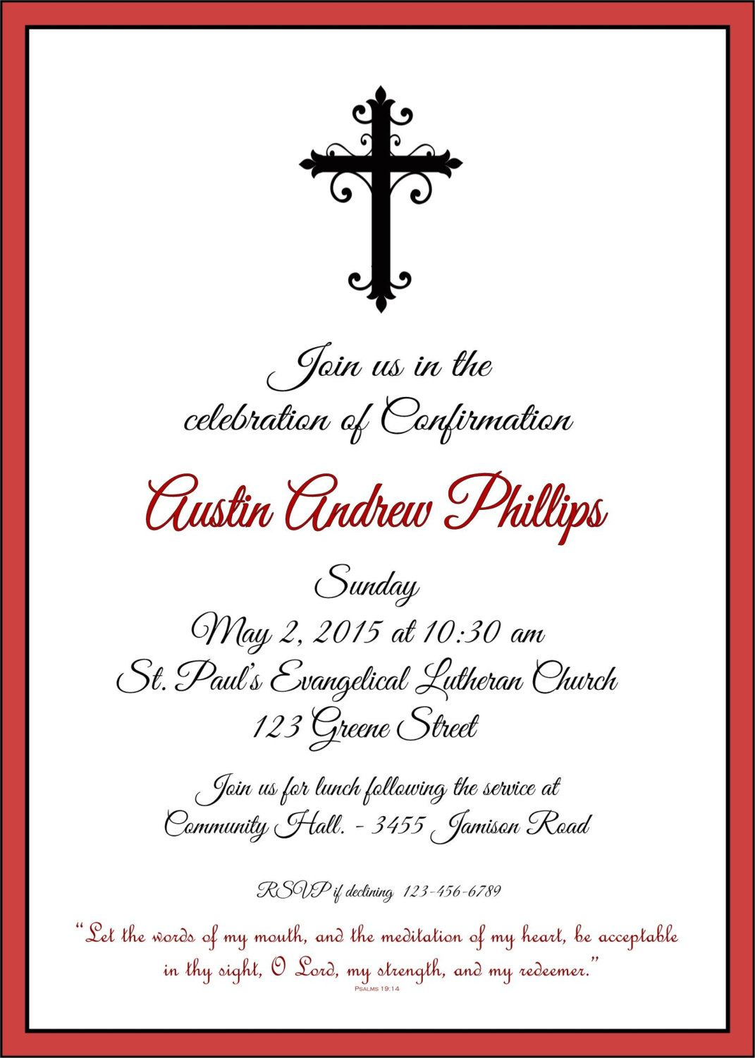 Printable Confirmation Invitation By Swell By