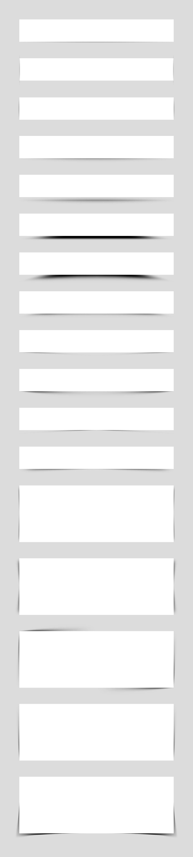 Pack de sombras en formato PSD