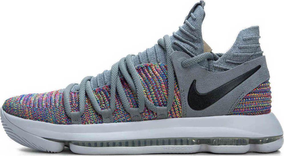 6b0650ef3f1ec Nike Zoom KD10 Mens Basketball Shoes 9.5 Cool Grey Multi-Color 897815 900   Nike  BasketballShoes