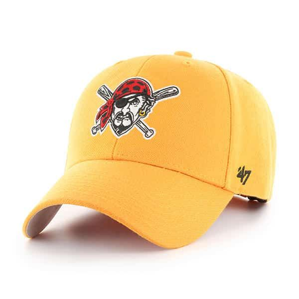premium selection 6fcad 45d66 Pittsburgh Pirates 47 Brand Gold MVP Adjustable Hat