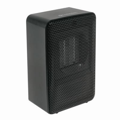 Comfort Zone Personal Desktop Ceramic Heater Black 125074 Ceramic Heater Heater Comfort Zone