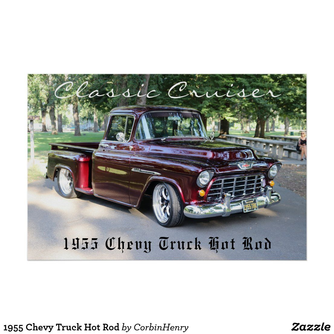 1955 Chevy Truck Hot Rod Poster | Zazzle.com