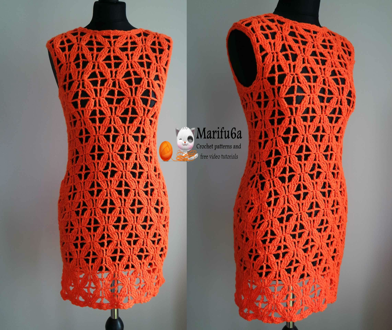 How to crochet tunic dress vestido free pattern gratis patron ...