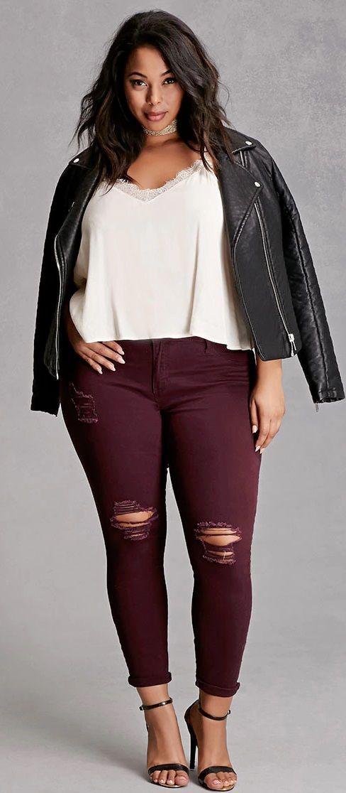 Look con jeans para mujeres gorditas  cdf3723ea35c