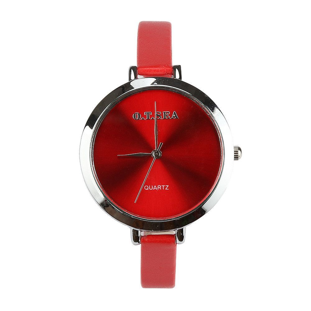 Hot Sale O.T.SEA Brand Thin Leather Watch Women Lady Fashion Dress Watch  Quartz Wrist Watches Hours Reloj Mujer 104 8a1e809e234