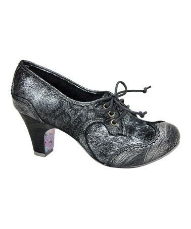 Take a look at this Silver Rumple Snakeskin Bootie by Irregular Choice on #zulily today!