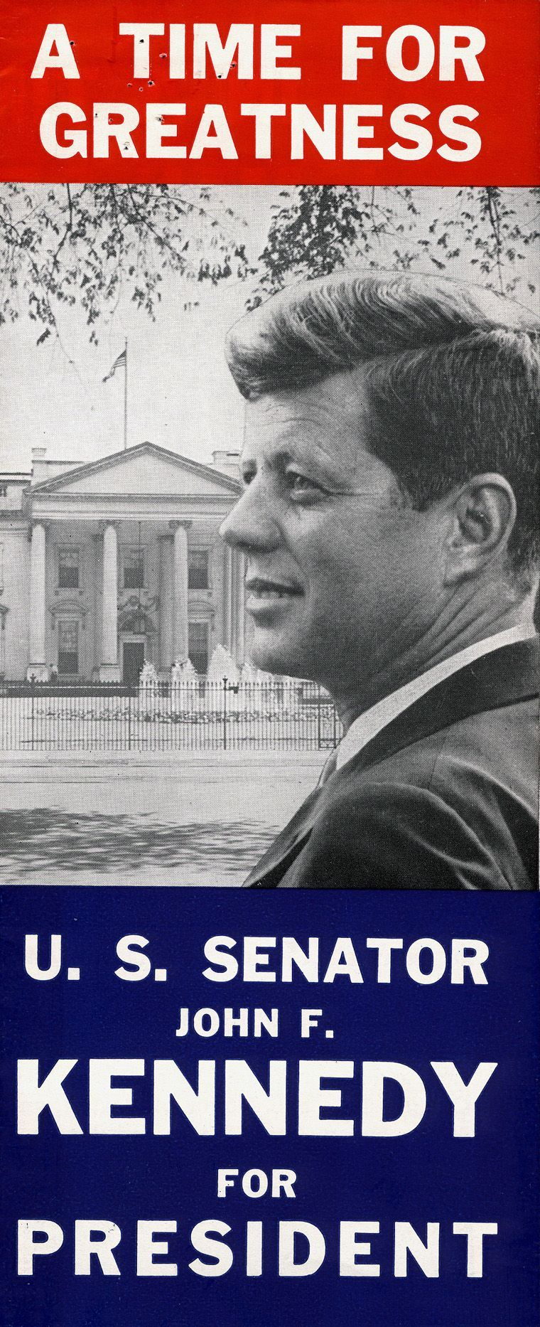 Printed by the Massachusetts committee for John F Kennedys – Election Brochure