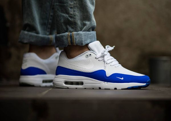 nike - basket homme nike air max 1 essential blue