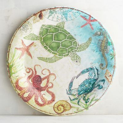 Speedy Friends Melamine Dinner Plate Patterned Dishes Ocean Decor Plates