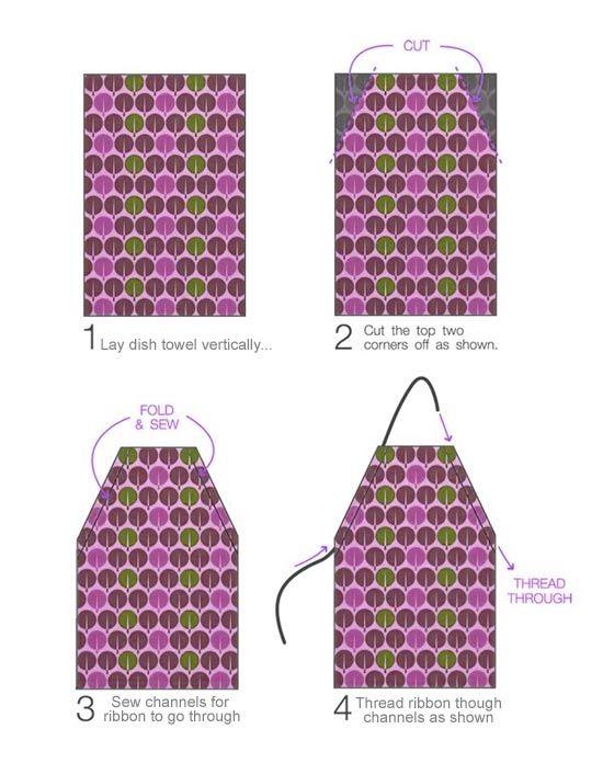 Moldes para hacer delantales de cocina | Costura a máquina que ...