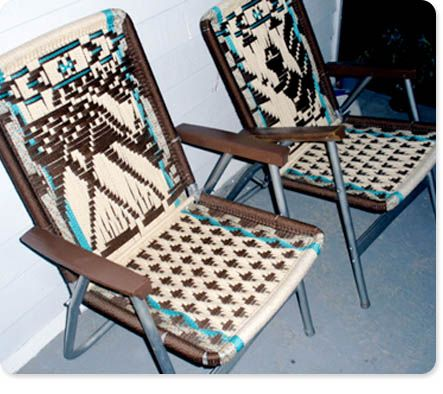 Trailer Park Macrame Lawn Chairs With